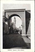 TRIPOLI  INGRESSO A SUK EL MUSCIR  STAMPA CIRCA 1912 LIBIA OCC. ITALIANA - Libië
