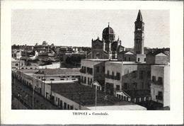 TRIPOLI  CATTEDRALE  STAMPA CIRCA 1912 LIBIA OCC. ITALIANA - Libië