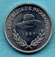 C3/  NICARAGUA  25 Centavos 1987  Km#57 UNC - Nicaragua