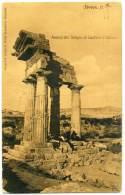 R.419.  GIRGENTI - AGRIGENTO - Tempio Di Castore E Polluce - 1906 - Agrigento