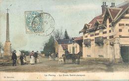 LE PERRAY CROIX SAINT-JACQUES ATTELAGE CHEVAL 78 - Le Perray En Yvelines