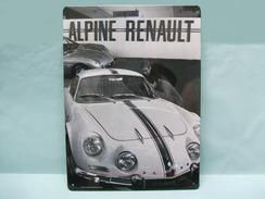 Atlas - PLAQUE EMAILLEE TOLE Métal RENAULT ALPINE Berlinette A110 28,5 X 21cm NEUF - Plaques Publicitaires