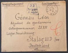 Enveloppe Du 19 Février 1941 Pour ADJUDANT DE GENDARMERIE Prisonnier De Guerre STALAG III D Berlin De Hautmont - Marcophilie (Lettres)