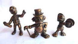 Rare 3 FIGURINES DISNEY EN ACIER Vernis PARC DISNEY - PICSOU GEO TROUVETOU NEVEU DE DONALD - Figurine - Disney