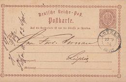 DR Ganzsache K2 Lützen 23.9.74 Gel. Nach Leipzig Seltener Stempel - Briefe U. Dokumente