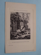Les Fables De La Fontaine - LE CHAT, LA BELETTE ET LE PETIT LAPIN - Oudry ( Nouvelles Galeries Bordeaux / Voir Photo ) ! - History