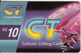 CURACAO - Curacao Telecom Prepaid Card 10 NAf, Used - Antilles (Netherlands)