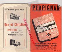 66 - PERPIGNAN - PLAN GUIDE BLAY - GUY CHRISTIAN MARCEROU- 22 PLACE RIGAUD-MICHEL CASSE OPTICIEN-ALQUIER ANTIQUITES - Europe