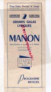 87 -LIMOGES- PROGRAMME CIRQUE THEATRE-30 AVRIL -1 MAI 1949-MANON MASSENET-RENEE TARN-JOSE MALLABRERA-MARIO FRANZINI - Programmi