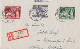 DR R-Brief Mif Minr.814,816,817 Lintfort (Kr. Moers) 4.1.43 - Briefe U. Dokumente