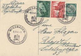 DR GS Zfr. Minr.748,749 SST Wiesbaden 16.8.40 Waffenstillstandskommission - Briefe U. Dokumente