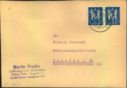 1949, 12 Pfg. Postgewerkschaft Auf Fernbrief Ab JENA. - DDR