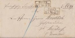 DR Brief R3 Posen Stadt-Post-Exped. 24.1.73 - Briefe U. Dokumente