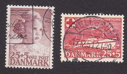 Denmark, Scott #B18-B19, Used, Princess Ann-Marie, SS Jutlandia, Issued 1947-50 - Denmark