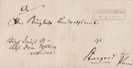 Preussen Brief R2 Freienwalde I. Pom. 10.4. Gel. Nach Stargard - Preussen