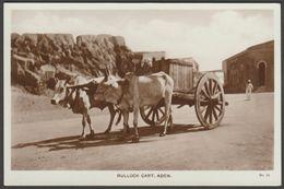 Bullock Cart, Aden, Yemen, C.1920s - Lehem RP Postcard - Yemen