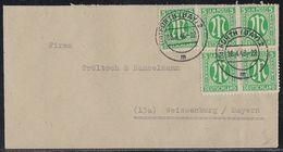 AM-Post Brief Mef Minr.5x 3 Fürth 18.4.46 - Bizone