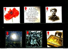GREAT BRITAIN - 2014  THE GREAT WAR  SET  MINT NH - 1952-.... (Elisabetta II)