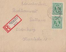 AM-Post R-Brief Mef Minr.2x 31 Bockum-Hövel (Bz. Münster) - Bizone