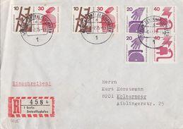 Berlin R-Brief Zdr Mif Minr.2x W55,404 C,D, 407 C,D Berlin Zentralflughafen - Berlin (West)