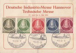 Berlin Anlasskarte Minr.82-86 SST Hannover 4.5.52 - Berlin (West)