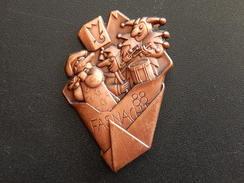 Broche -  CARNAVAL DE BALE  Suisse - FASNACHT 1988 - Cuivre - Jetons & Médailles