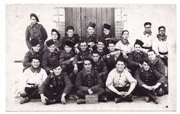 ANTIBES - CARTE PHOTO - CASERNE DUGOMMIER - GROUPE DE CHASSEURS DU 9° BCA - 1939 - ALPES MARITIMES - Sonstige