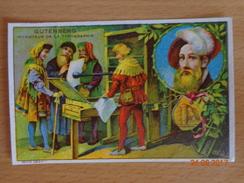 IMAGE  --  LIBRAIRIE  D' ÉDUCATION  NATIONALE  --    GUTENBERG  Inventeur De La Typographie - Vieux Papiers