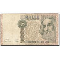 Italie, 1000 Lire, 1982-1983, KM:109b, 1982-01-06, B+ - [ 2] 1946-… : République