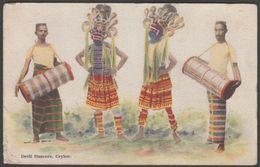 Devil Dancers, Ceylon, C.1905-10 - Plâté's Art Postcard - Sri Lanka (Ceylon)