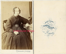 CDV Mode Second Empire-vieille Femme-photographie Orfèvrerie Palmer Descamps à Coutrai-Belgique - Photographs