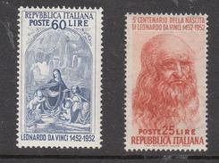 Italia - 1952 - Leonardo 25 + 60 Lire ** - 1946-.. République