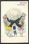 +++ CPA - Souvenir D' OSTENDE - OOSTENDE - Illustrateur XAVIER SAGER - Mode - Chapeau - Carte Fantaisie // - Oostende