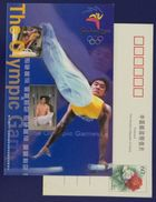 Pommel Horse,rings,parallel Bars,China 2000 Gold Medal Voting For 27th Sydney Olympic Games Advertising Pre-stamped Card - Gymnastics
