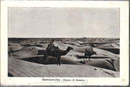 TRIPOLITANIA DESERTO DI AINZARA CIRCA 1910  LIBIA OCC. ITALIANA - Libië