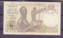AOF French West Africa 10 Fr 1953  XF+ - États D'Afrique De L'Ouest