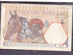 AOF French West Africa 25 Fr 1942 XF - États D'Afrique De L'Ouest