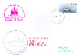 SOUTH AFRICA - ANTARCTIC EXPEDITION - 1989 - TOTABLE BAY HARBOUR, MV POLAN QUEEN, RIEBER SHIPPING AGENY - Covers & Documents
