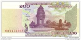 CAMBODIA 100 RIELS 2001 P-53a UNC  [ KH416a ] - Cambodia