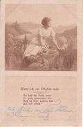 AK Frau Im Grünen - Wenn Ich Ein Vöglein Wär... - Feldpost - 1916 (29409) - Frauen