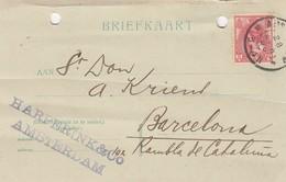 PAYS-BAS - BRIEFKAART 1906 AMSTERDAM TO BARCELONA /1 - 1891-1948 (Wilhelmine)