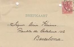 PAYS-BAS - BRIEFKAART 1905 TO BARCELONA /1 - Periode 1891-1948 (Wilhelmina)