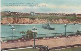 Lévis Québec From Dufferin Terrace - Little Animation - War Boat - Bateau - 2 Scans - Levis