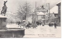88 - Saint Claude ( Jura ) - Effet De Neige - Avenue De Belfort ( Attelage Traineau ) - Saint Claude