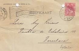 PAYS-BAS - BRIEFKAART 1907 ROTTERDAM TO BARCELONA /1 - Periode 1891-1948 (Wilhelmina)