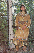 Athabascan Indian Traditional Native Dress, Clothing, ALASKA, AK, United States, USA, POSTCARD POST CARD, Carte Postale - Other