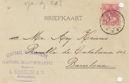 PAYS-BAS - BRIEFKAART 1905 ROTTERDAM TO BARCELONA /1 - Periode 1891-1948 (Wilhelmina)