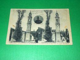 Cartolina Moranego ( Davagna ) - Il Campanile Pendente ( Prima E Dopo ) 1930 - Genova