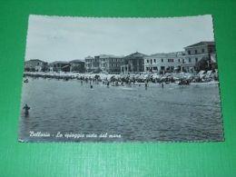 Cartolina Bellaria - La Spiaggia Vista Dal Mare 1958 - Rimini