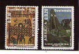 Guatemala 1989 MNH Set America Upaep Scott C834-835 - Archaeology